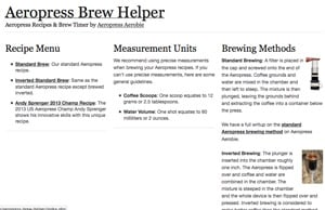 Aeropress Brew Helper Desktop