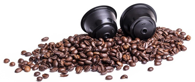 Coffee pods and beans