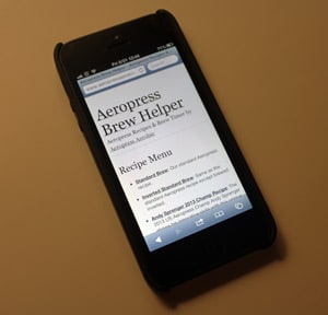 Aeropress Brew Helper on The iPhone