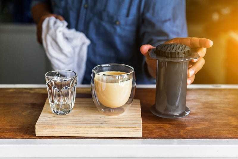 Aeropress Iced Latte